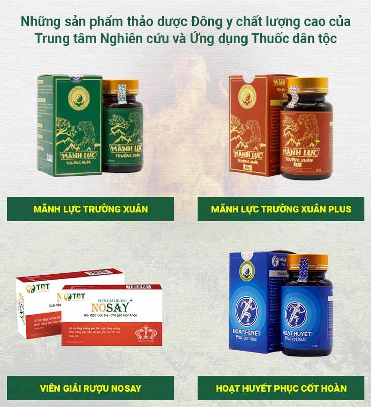 Top các sản phẩm Đông y nổi bật của Trung tâm Thuốc dân tộc