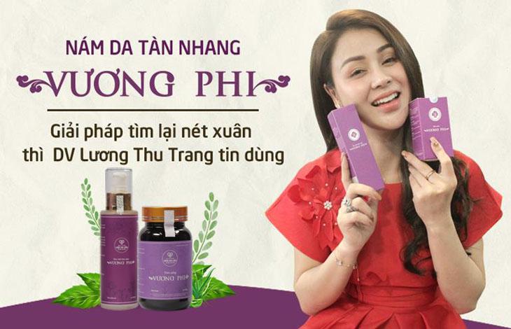 Diễn viên Thu Trang đã điều trị thành công nám, tàn nhang nhờ BSP Vương Phi