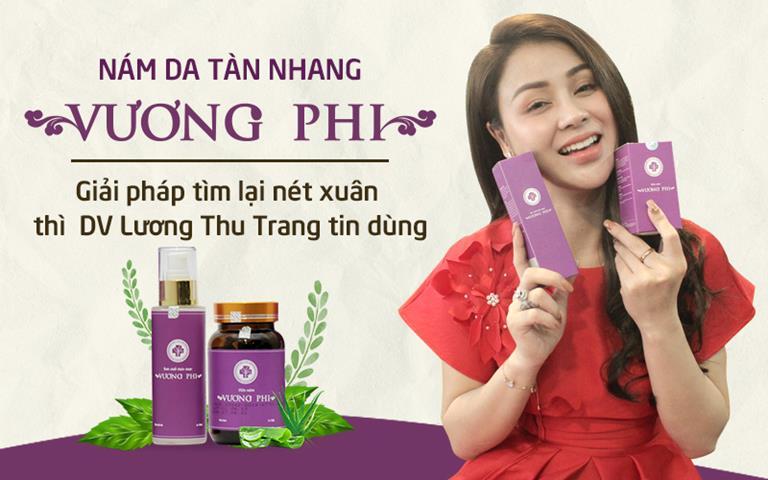 DV Thu Trang đã điều trị thành công nám, tàn nhang nhờ BSP Vương Phi