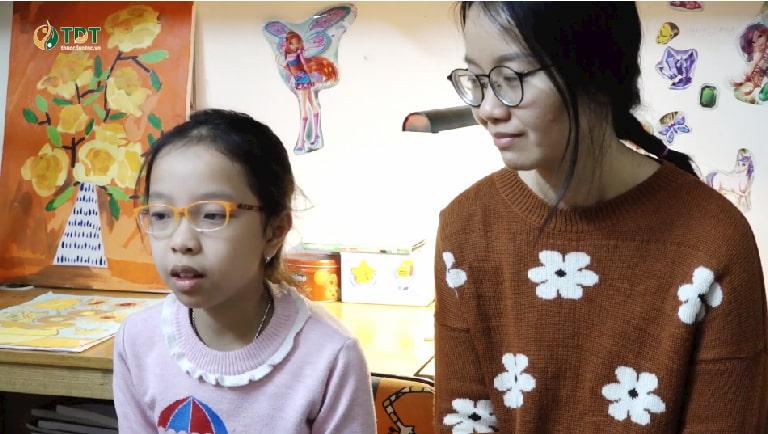 Chị Lâm Thanh và bé Tùng Chi