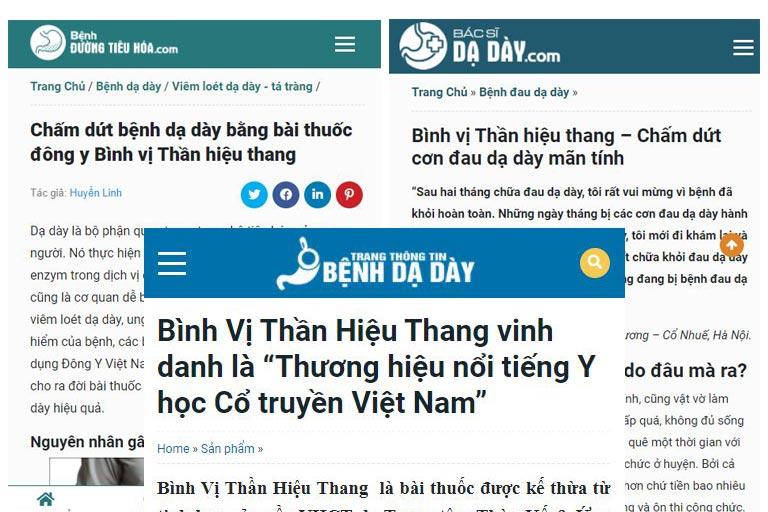 Bình vị Thần hiệu Thang được nhiều kênh thông tin khen ngợi