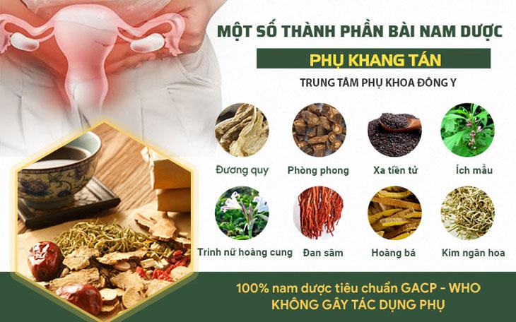Phụ Khang Tán là bài thuốc do Trung tâm Phụ khoa Đông y Việt Nam nghiên cứu