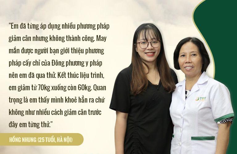 Nguyễn Thị Hồng Nhung (25 tuổi, Hà Nội): Giảm từ 70kg (4/2019) -> 60kg (7/2019)