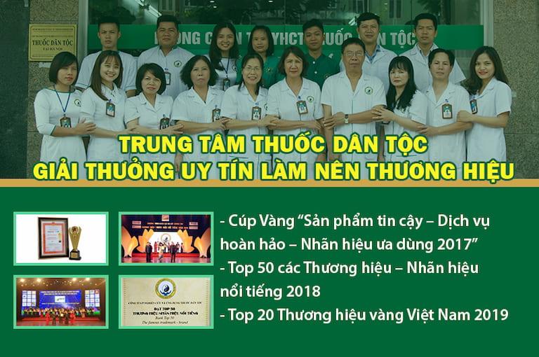 Một số giải thưởng uy tín của Trung tâm Thuốc dân tộc