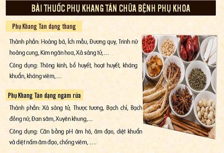 Phụ khang tán là bài thuốc do Trung tâm Đông y Việt Nam nghiên cứu
