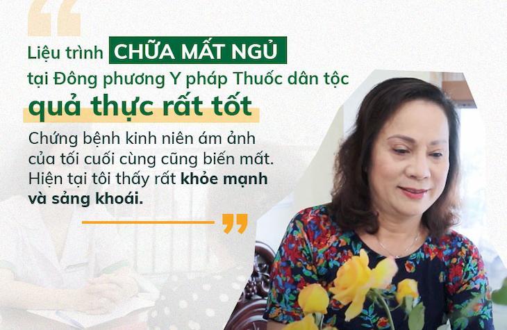 Nghệ sĩ Hương Dung bày tỏ sự hài lòng sau quá trình điều trị mất ngủ tại Đông phương Y pháp