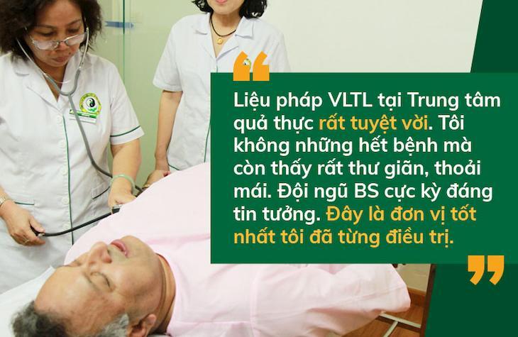 Tiến sĩ Alok đánh giá về chất lương khám chữa bệnh tại Trung tâm Ứng dụng Đông phương Y pháp