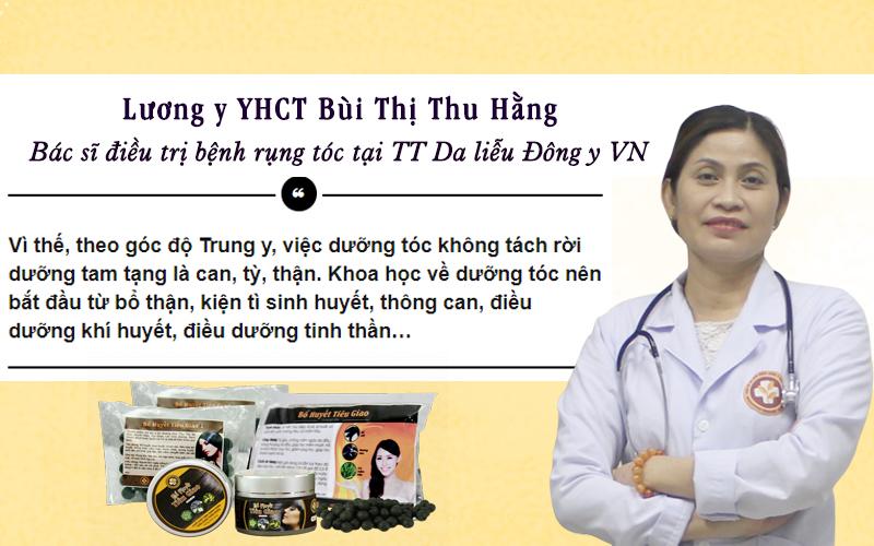 Chuyên gia tại Trung Tâm Da Liễu Đông Y Việt Nam đang tư vấn về nguyên tắc trị rụng tóc