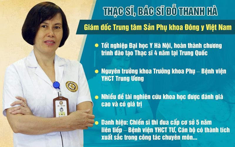 Thạc sĩ, bác sĩ Đỗ Thanh Hà có 40 năm kinh nghiệm thăm khám và điều trị bệnh viêm âm đạo