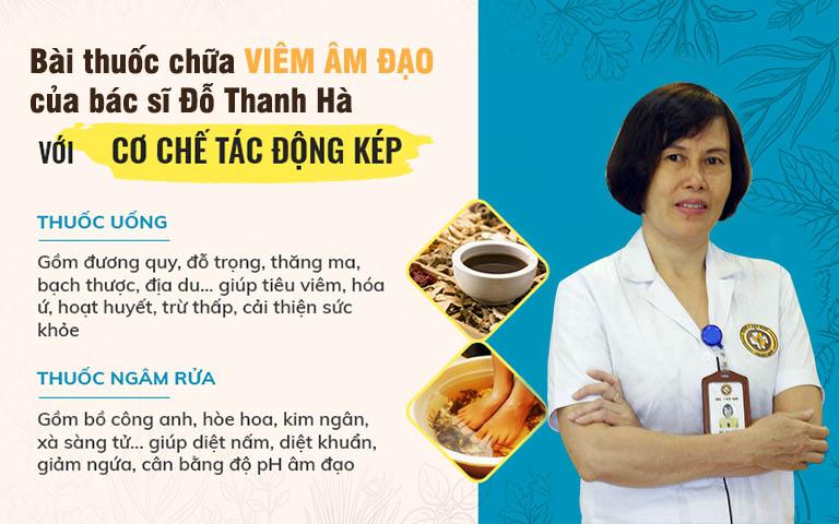 Bài thuốc chữa viêm âm đạo của bác sĩ Thanh Hà được đánh giá cao về hiệu quả