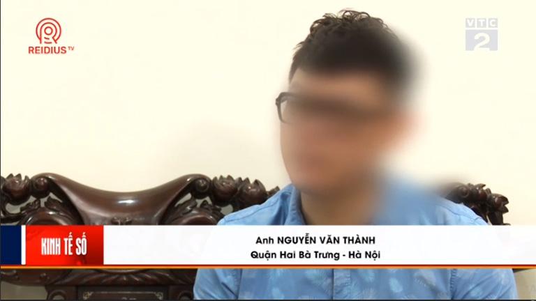 Anh Thành chia sẻ về tình trạng bệnh với phóng viên trong phóng sự VTC2 giới thiệu bài thuốc chữa trĩ của Thuốc dân tộc