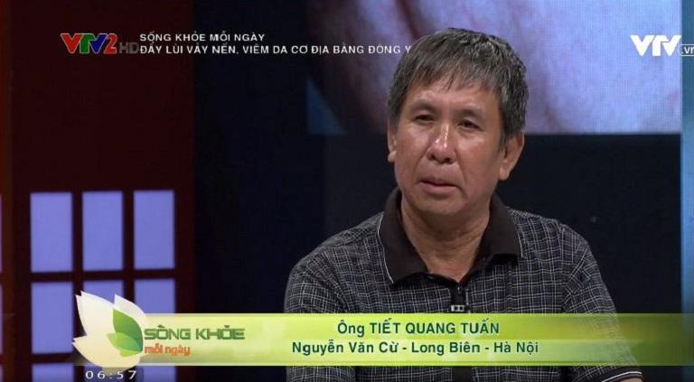 VTV2 đưa tin bệnh nhân điều trị khỏi vảy nến