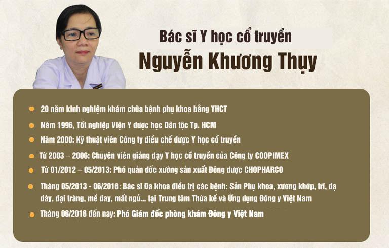 Bác sĩ Nguyễn Khương Thụy có vốn hiểu biết sâu rộng về dược liệu YHCT