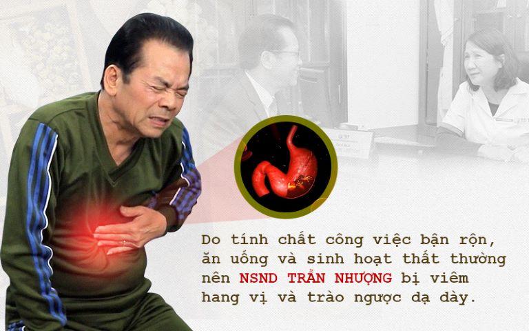 NSND Trần Nhượng đã chịu đựng đau dạ dày trong nhiều năm qua