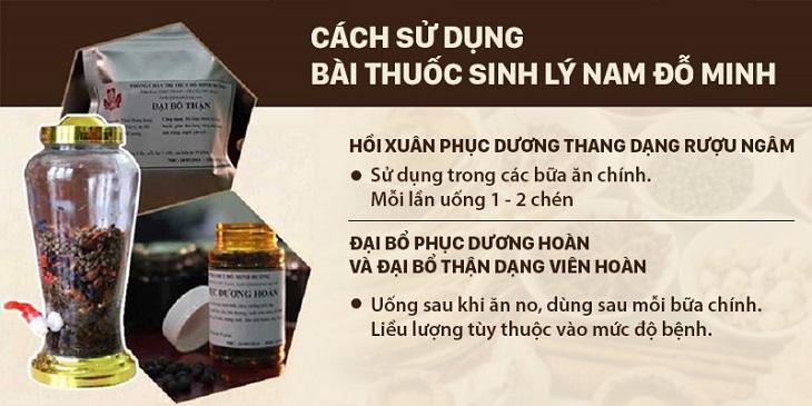 Cách sử dụng bài thuốc sinh lý nam Đỗ Minh
