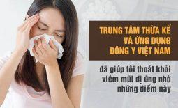 chữa viêm mũi dị ứng tại Trung tâm thừa kế và ứng dụng đông y việt nam