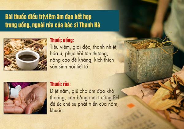 Tác động kép trong bài thuốc điều trị viêm âm đạo của bác sĩ Thanh Hà