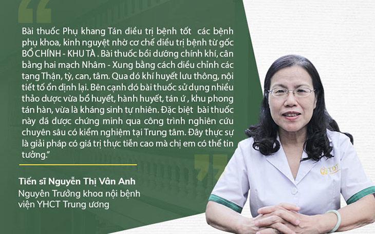 Bác sĩ Vân Anh đưa ra nhận xét về Phụ Khang Tán