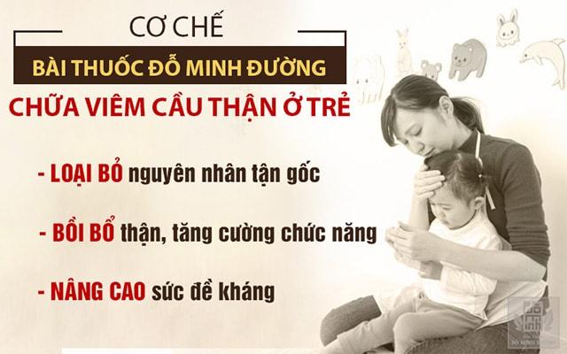 Cơ chế bài thuốc chữa viêm cầu thận cho trẻ