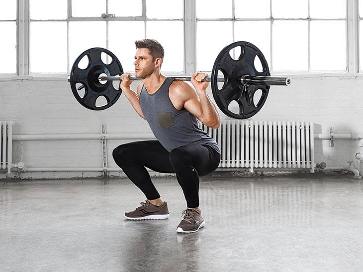 Cách chữa xuất tinh sớm từ bài tập nâng ta squat