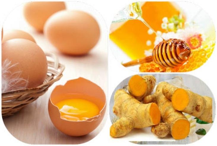 Công thức cải thiện sinh lý nam với trứng gà, mật ong và nghệ tươi