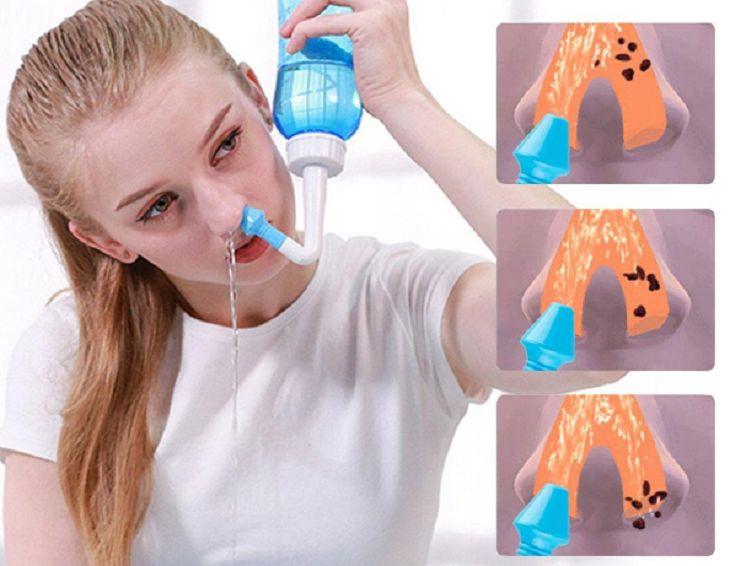 Có nên rửa mũi khi bị viêm tai giữa