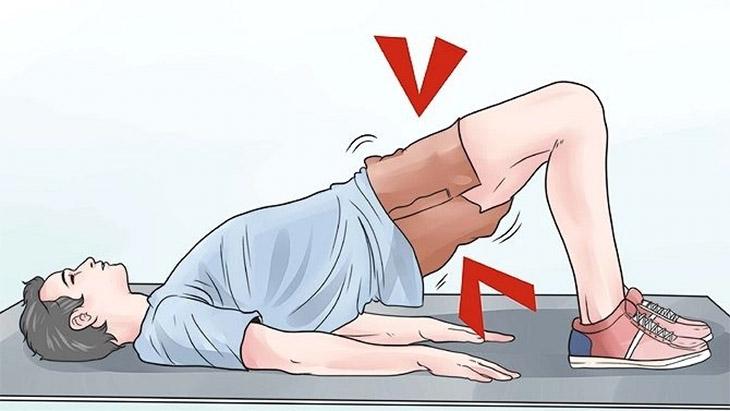 Luyện tập động tác nâng hông, tăng khả năng co bóp cơ PC