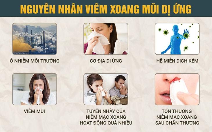 Tác nhân chính gây bệnh viêm xoang mũi dị ứng