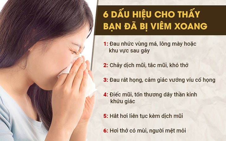 Các triệu chứng dễ nhận biết bệnh viêm xoang