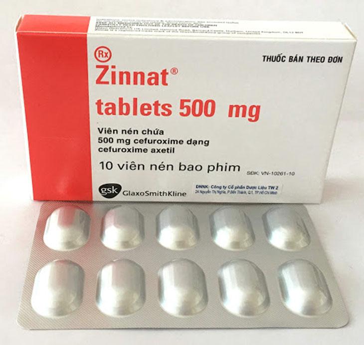 Thuốc điều trị viêm xoang Zinnat 500mg