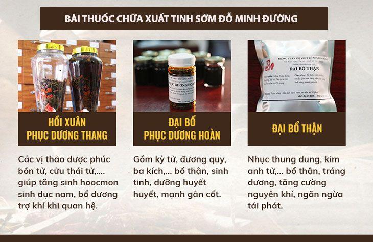 Bài thuốc chữa xuất tinh sớm nhà thuốc Đỗ Minh Đường