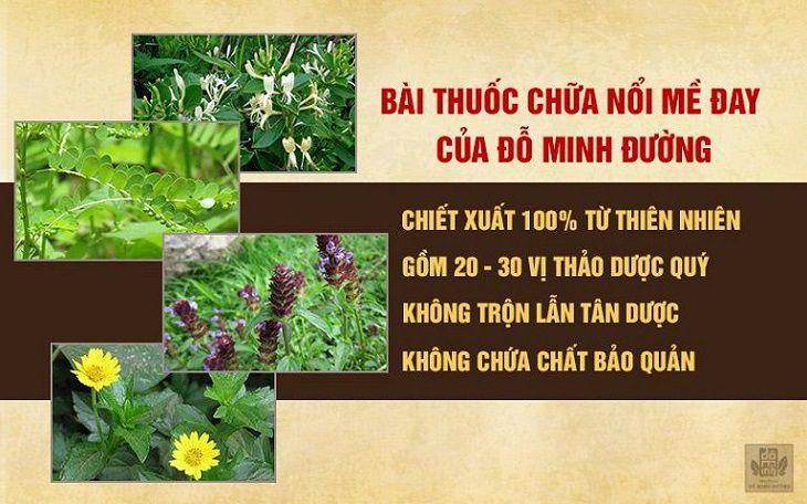 Thành phần bài thuốc chữa nổi mề đay ở trẻ em của Đỗ Minh Đường