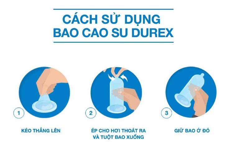 Hướng dẫn dùng bao cao su Durex đúng cách