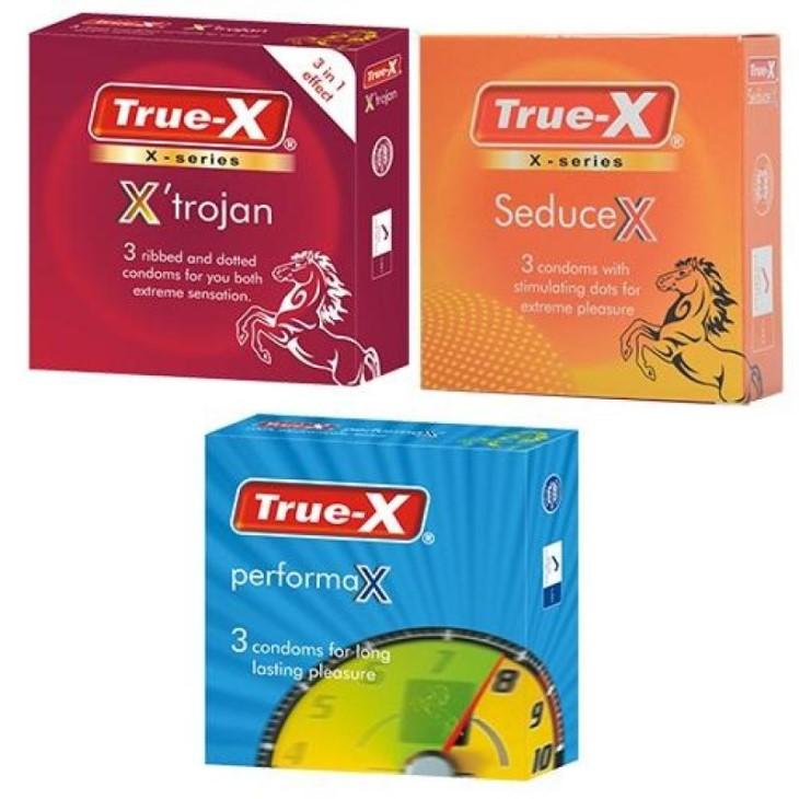 Bao cao su True - X PerformaX nằm trong chuỗi sản phẩm True được cải tiến qua nhiều thế hệ