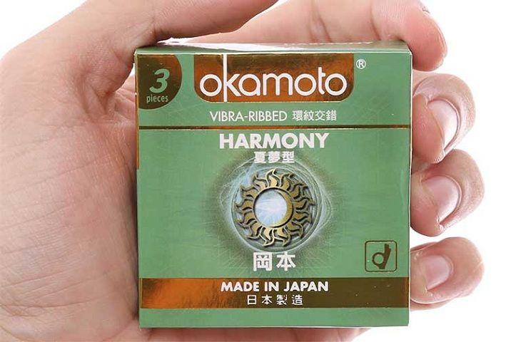 Bao cao su Okamoto Harmony Vibra Ribbed