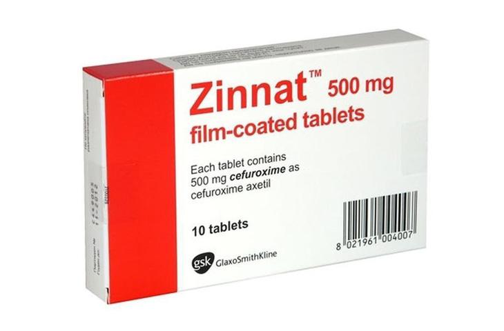 thuốc chữa amidan cho trẻ Zinnat