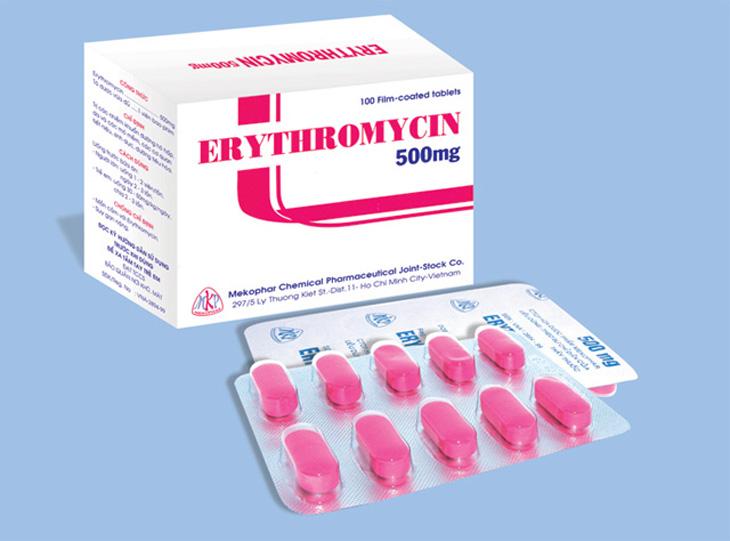 Bé bị viêm amidan uống thuốc gì - Thuốc Erythromycin