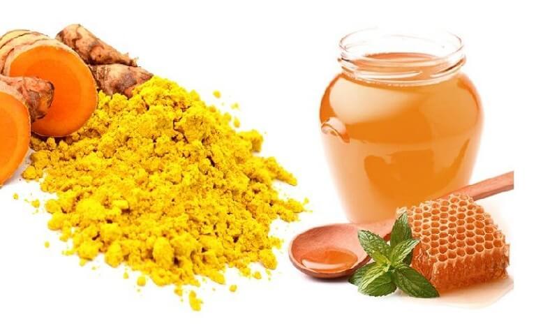 Tinh bột nghệ và mật ong rất tốt trong hỗ trợ điều trị bệnh hội chứng ruột kích thích