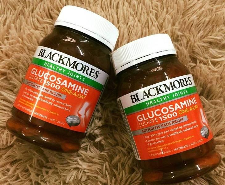 Thuốc chữa thoát vị đĩa đệm Blackmores glucosamine là sản phẩm nhập khẩu nổi tiếng của Đức