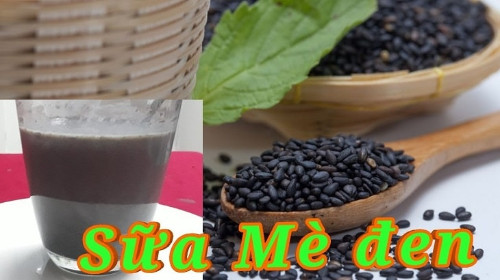 Vừng (mè) đen pha với sữa có tác dụng cải thiện tinh trùng