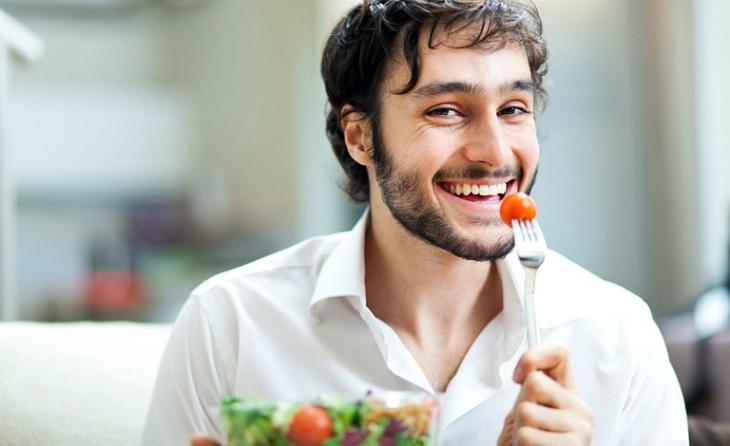 Chế độ ăn uống đầy đủ, hợp lý tốt cho sức khỏe tinh binh