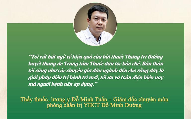 đánh giá về của chuyên gia YHCT Đỗ Minh Tuấn về Thăng trĩ Dưỡng huyết than