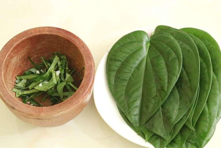 Chữa mề đay bằng lá trầu sẽ mang lại hiệu quả với trường hợp bệnh nhẹ