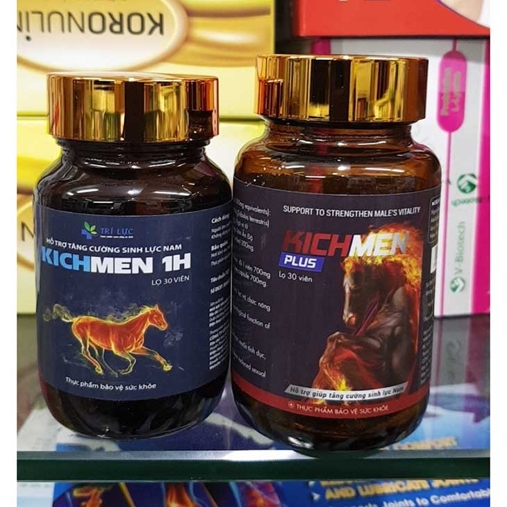 Thuốc trị xuất tinh sớm Kichmen 1h kéo dài thời gian quan hệ cho nam giới