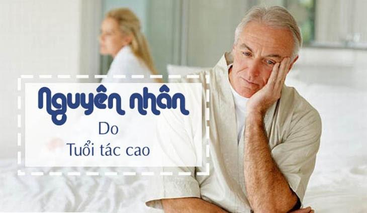 Tuổi tác là một trong những yếu tố hàng đầu dẫn đến liệt dương tạm thời và vĩnh viễn