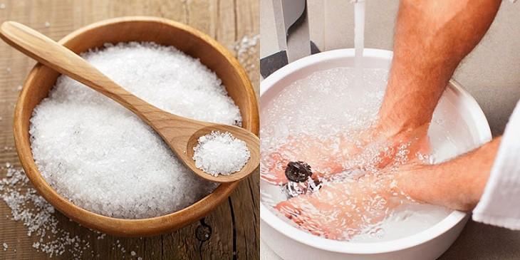 Ngâm rửa với nước muối ấm sẽ giúp bạn giảm khó chịu