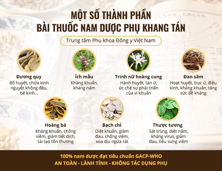 Một số vị thảo dược quý góp mặt trong Phụ Khang Tán