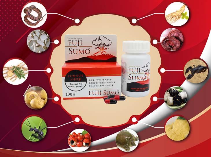 Fuji Sumo sản phẩm kết hợp từ nhiều dược liệu khác nhau tốt cho nam giới