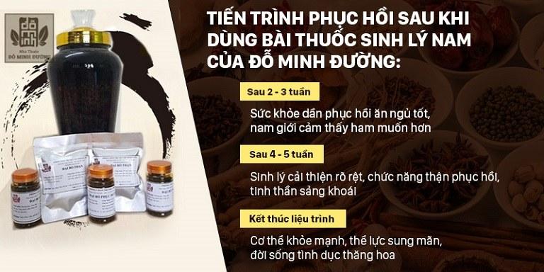 Hiệu quả điều trị của bài thuốc Sinh lý Nam Đỗ Minh