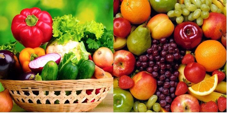 Cha mẹ bổ sung nhiều rau xanh và trái cây trong thực đơn